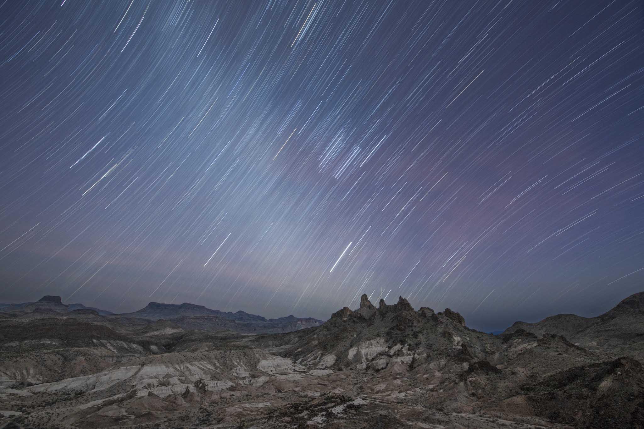 Fotografia nocturna en el desierto de chihuahua paisaje en big bend national park texas imagen de Pablo Fregoso