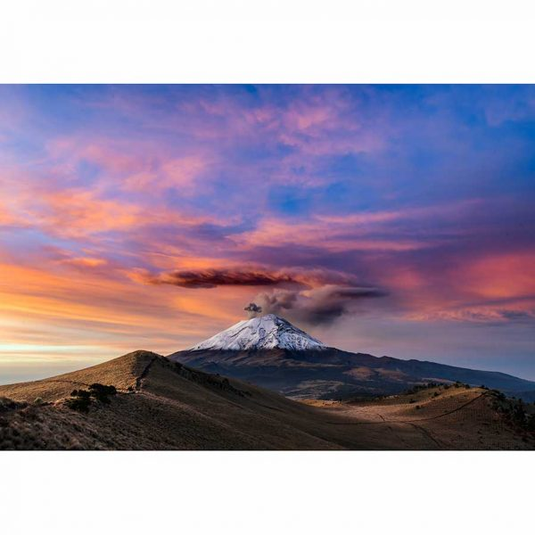 Impresion de amanecer en el volcan activo Popocatepetl, Mexico fotografia de paisaje de Pablo Fregoso