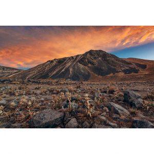 Impresion paisaje de un amanecer en el volcan Nevado de Toluca. Fotografia de Pablo Fregoso